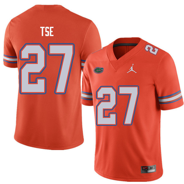 Jordan Brand Men #27 Joshua Tse Florida Gators College Football Jerseys Sale-Orange