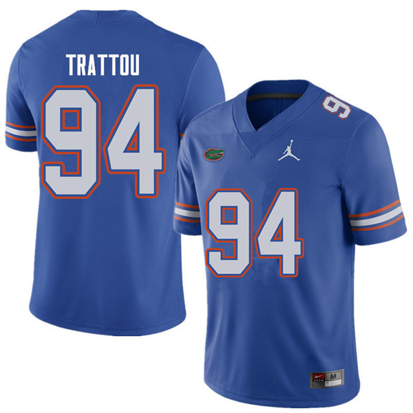 Jordan Brand Men #94 Justin Trattou Florida Gators College Football Jerseys Sale-Royal