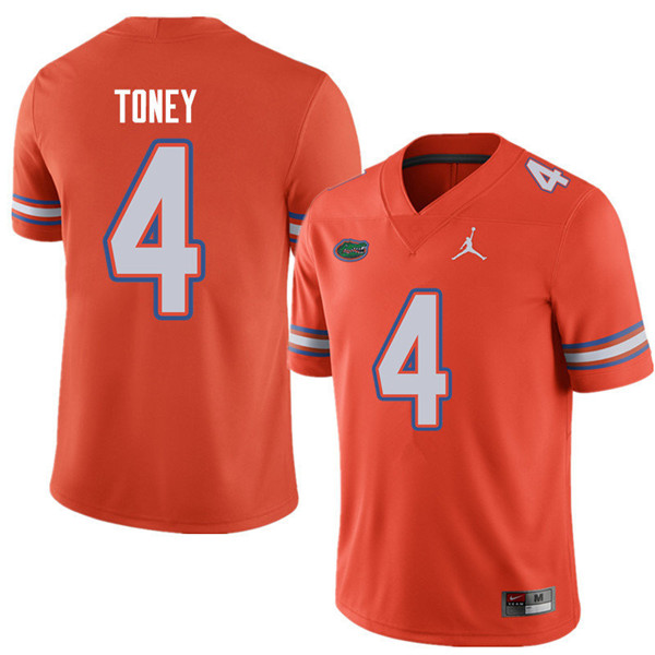 Jordan Brand Men #4 Kadarius Toney Florida Gators College Football Jerseys Sale-Orange