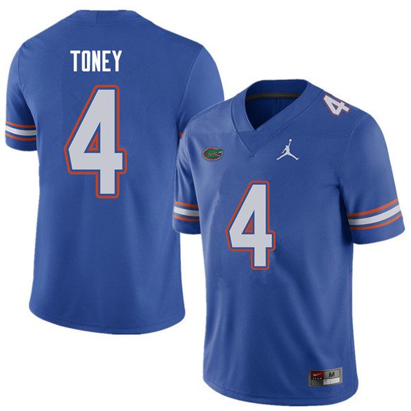 Jordan Brand Men #4 Kadarius Toney Florida Gators College Football Jerseys Sale-Royal