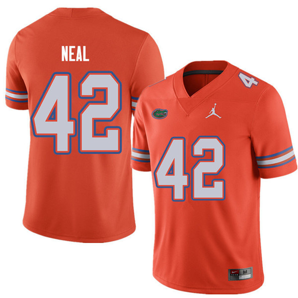 Jordan Brand Men #42 Keanu Neal Florida Gators College Football Jerseys Sale-Orange