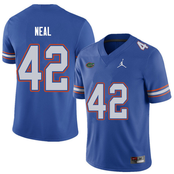 Jordan Brand Men #42 Keanu Neal Florida Gators College Football Jerseys Sale-Royal
