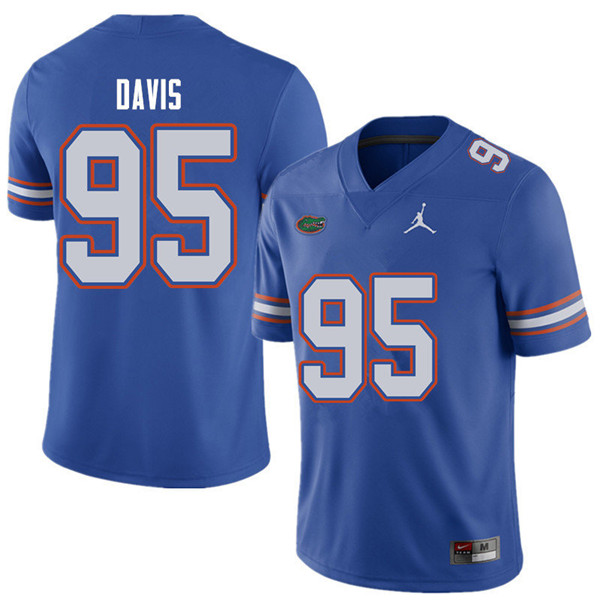 Jordan Brand Men #95 Keivonnis Davis Florida Gators College Football Jerseys Sale-Royal
