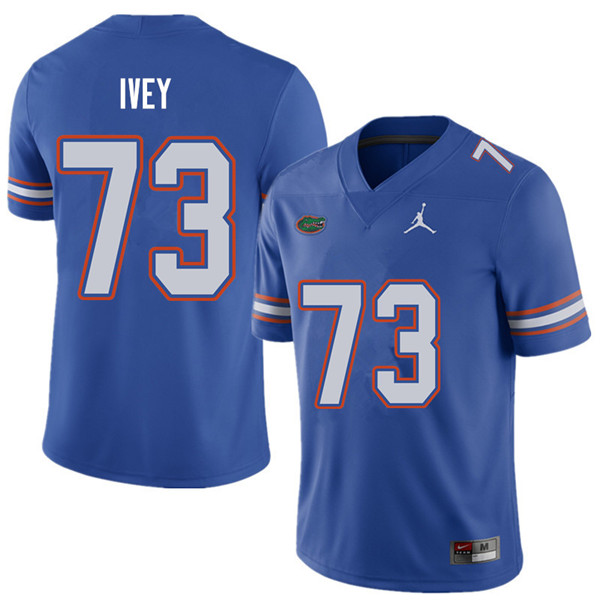 Jordan Brand Men #73 Martez Ivey Florida Gators College Football Jerseys Sale-Royal