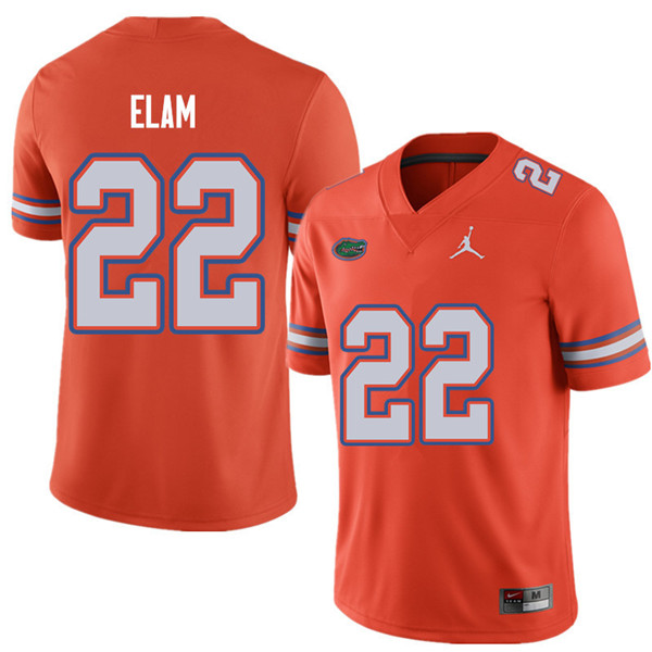Jordan Brand Men #22 Matt Elam Florida Gators College Football Jerseys Sale-Orange