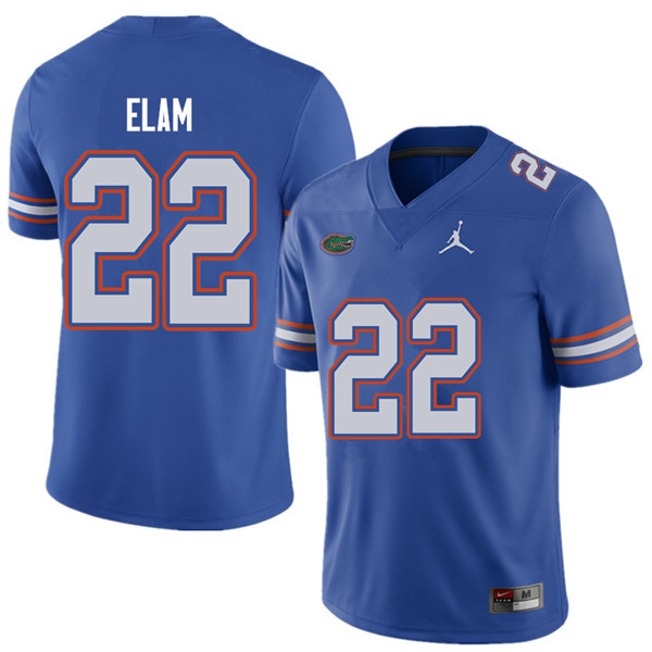 Jordan Brand Men #22 Matt Elam Florida Gators College Football Jerseys Sale-Royal