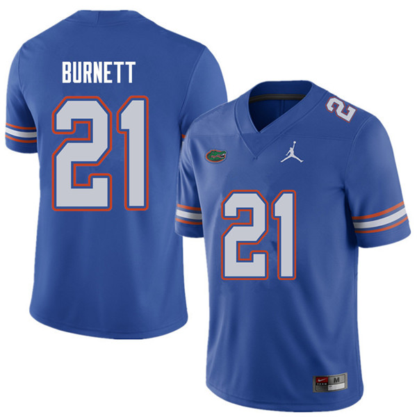 Jordan Brand Men #21 McArthur Burnett Florida Gators College Football Jerseys Sale-Royal