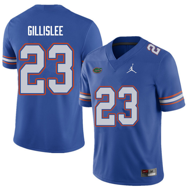 Jordan Brand Men #23 Mike Gillislee Florida Gators College Football Jerseys Sale-Royal