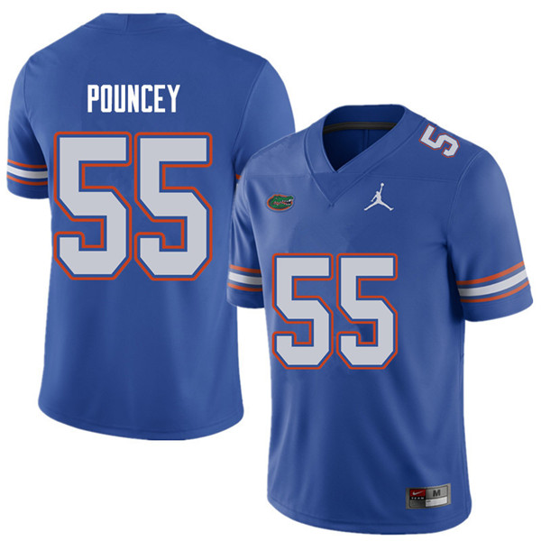 Jordan Brand Men #55 Mike Pouncey Florida Gators College Football Jerseys Sale-Royal