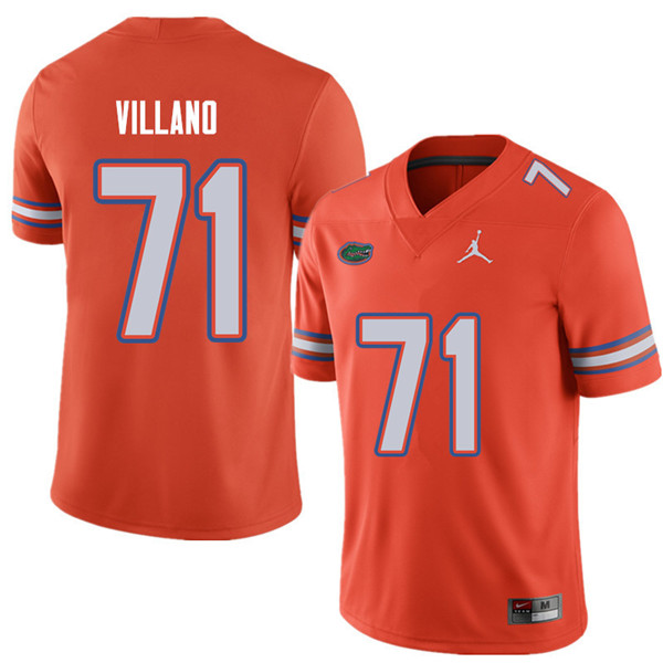 Jordan Brand Men #71 Nick Villano Florida Gators College Football Jerseys Sale-Orange