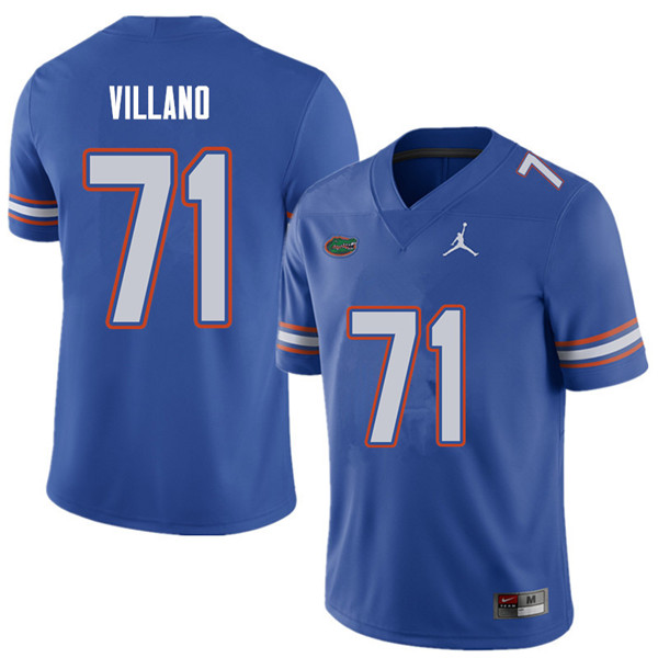 Jordan Brand Men #71 Nick Villano Florida Gators College Football Jerseys Sale-Royal