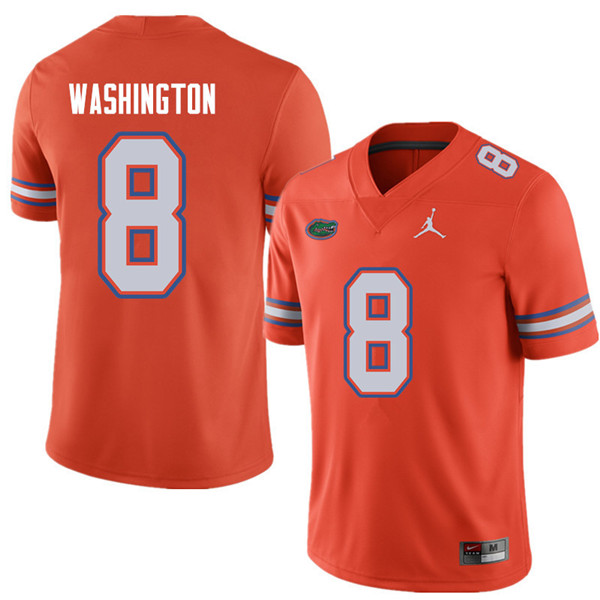 Jordan Brand Men #8 Nick Washington Florida Gators College Football Jerseys Sale-Orange