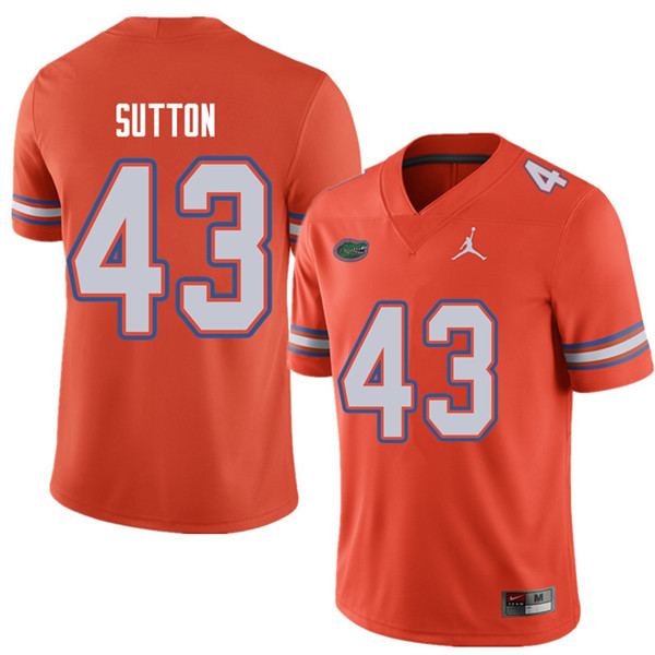 Jordan Brand Men #43 Nicolas Sutton Florida Gators College Football Jerseys Sale-Orange