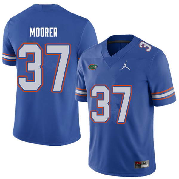Jordan Brand Men #37 Patrick Moorer Florida Gators College Football Jerseys Sale-Royal