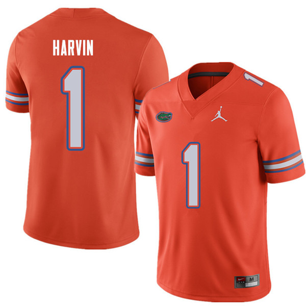 Jordan Brand Men #1 Percy Harvin Florida Gators College Football Jerseys Sale-Orange