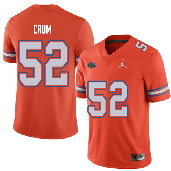 Jordan Brand Men #52 Quaylin Crum Florida Gators College Football Jerseys Sale-Orange
