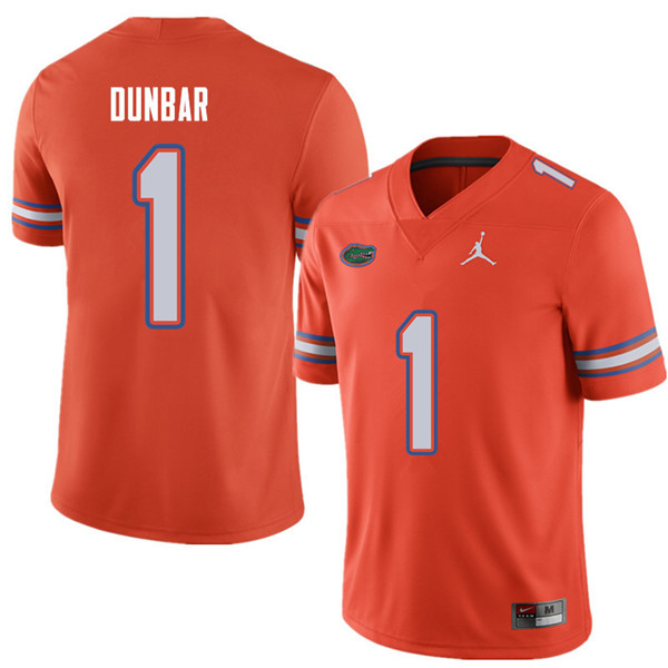 Jordan Brand Men #1 Quinton Dunbar Florida Gators College Football Jerseys Sale-Orange