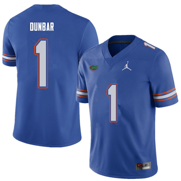 Jordan Brand Men #1 Quinton Dunbar Florida Gators College Football Jerseys Sale-Royal