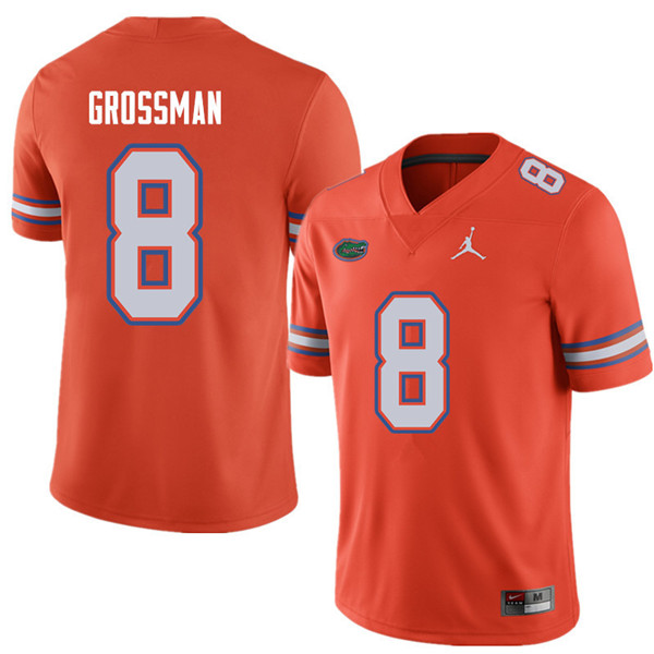 Jordan Brand Men #8 Rex Grossman Florida Gators College Football Jerseys Sale-Orange