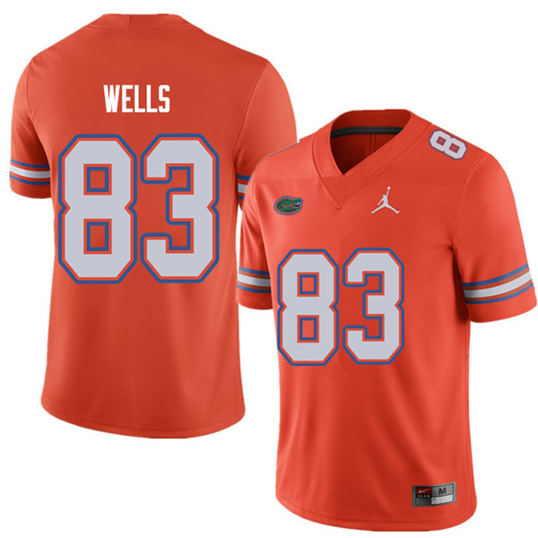 Jordan Brand Men #83 Rick Wells Florida Gators College Football Jerseys Sale-Orange