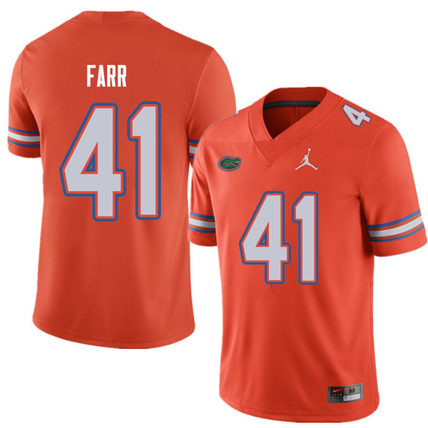 Jordan Brand Men #41 Ryan Farr Florida Gators College Football Jerseys Sale-Orange