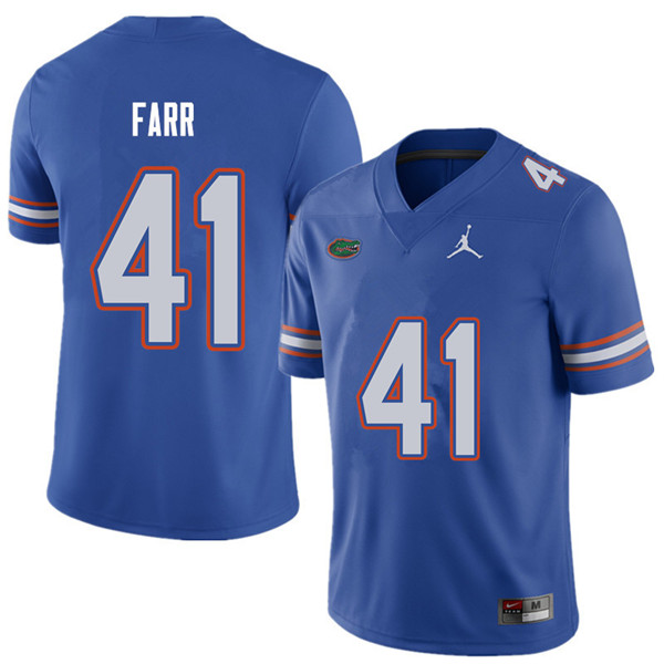 Jordan Brand Men #41 Ryan Farr Florida Gators College Football Jerseys Sale-Royal