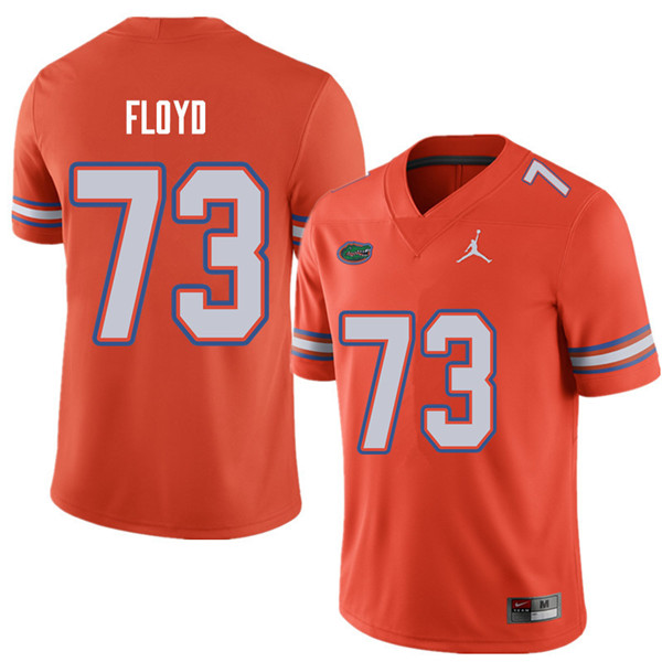 Jordan Brand Men #73 Sharrif Floyd Florida Gators College Football Jerseys Sale-Orange