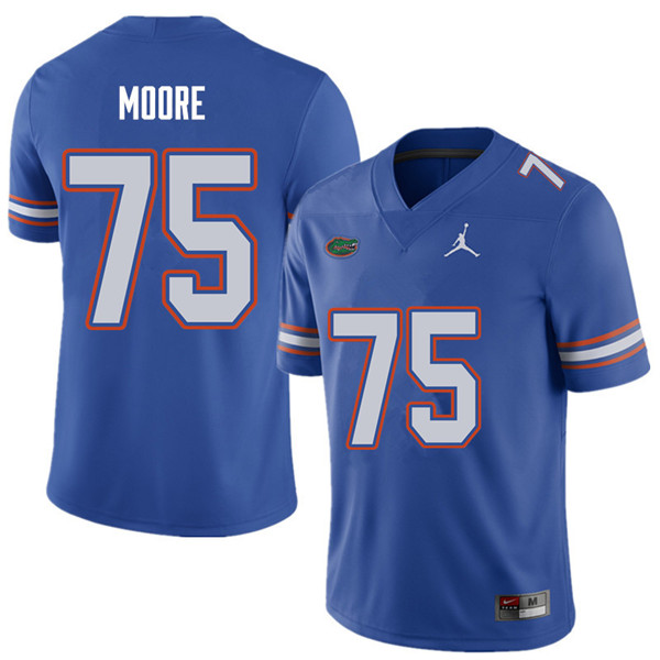 Jordan Brand Men #75 T.J. Moore Florida Gators College Football Jerseys Sale-Royal