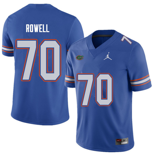 Jordan Brand Men #70 Tanner Rowell Florida Gators College Football Jerseys Sale-Royal