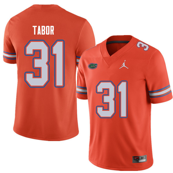 Jordan Brand Men #31 Teez Tabor Florida Gators College Football Jerseys Sale-Orange