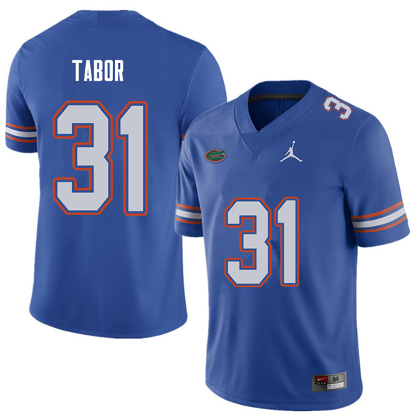 Jordan Brand Men #31 Teez Tabor Florida Gators College Football Jerseys Sale-Royal