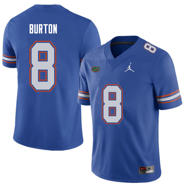 Jordan Brand Men #8 Trey Burton Florida Gators College Football Jerseys Sale-Royal