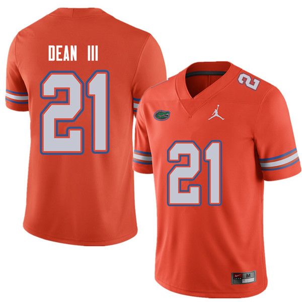 Jordan Brand Men #21 Trey Dean III Florida Gators College Football Jerseys Sale-Orange