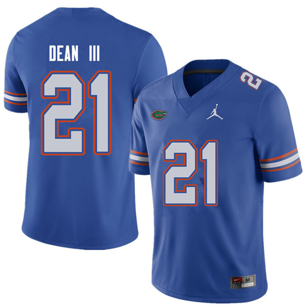 Jordan Brand Men #21 Trey Dean III Florida Gators College Football Jerseys Sale-Royal