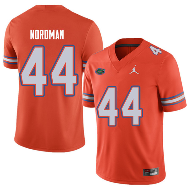 Jordan Brand Men #44 Tucker Nordman Florida Gators College Football Jerseys Sale-Orange