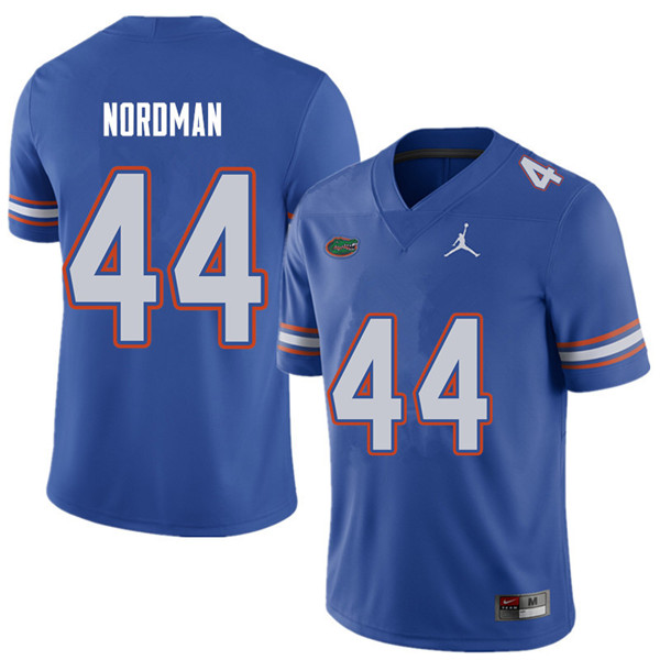 Jordan Brand Men #44 Tucker Nordman Florida Gators College Football Jerseys Sale-Royal