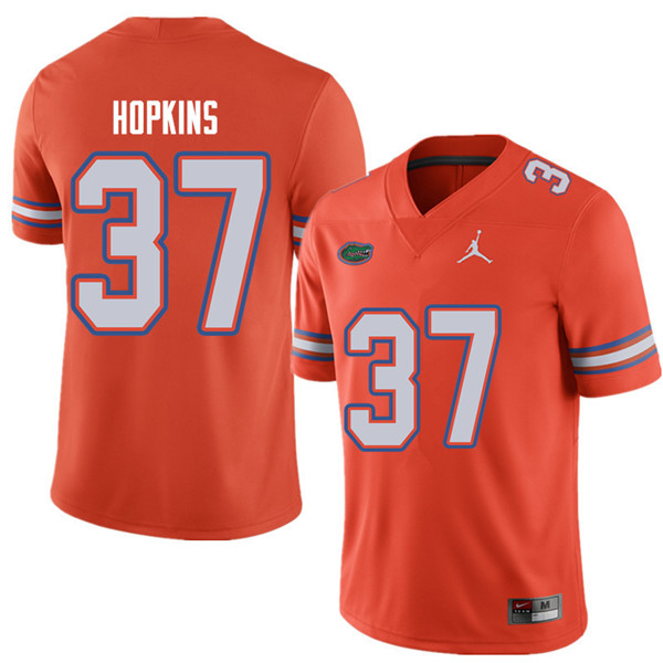 Jordan Brand Men #37 Tyriek Hopkins Florida Gators College Football Jerseys Sale-Orange