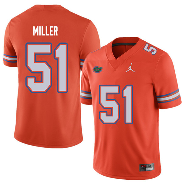 Jordan Brand Men #51 Ventrell Miller Florida Gators College Football Jerseys Sale-Orange