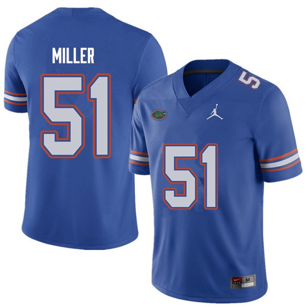 Jordan Brand Men #51 Ventrell Miller Florida Gators College Football Jerseys Sale-Royal