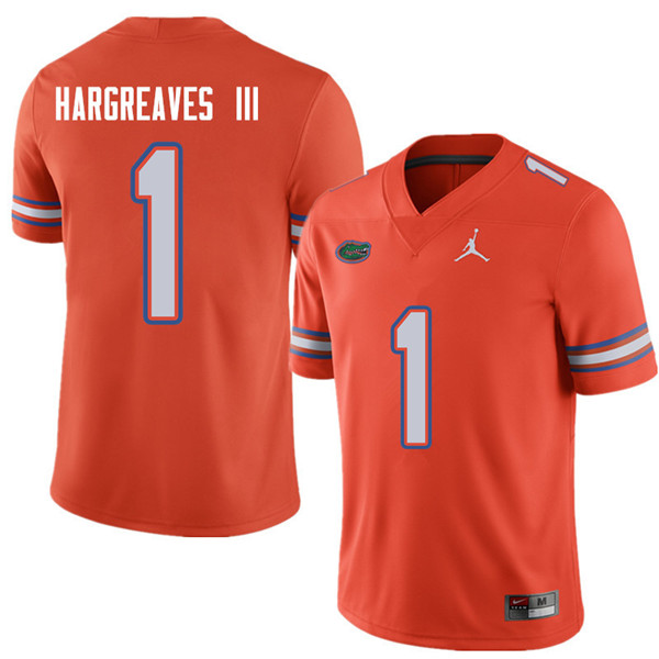 Jordan Brand Men #1 Vernon Hargreaves III Florida Gators College Football Jerseys Sale-Orange