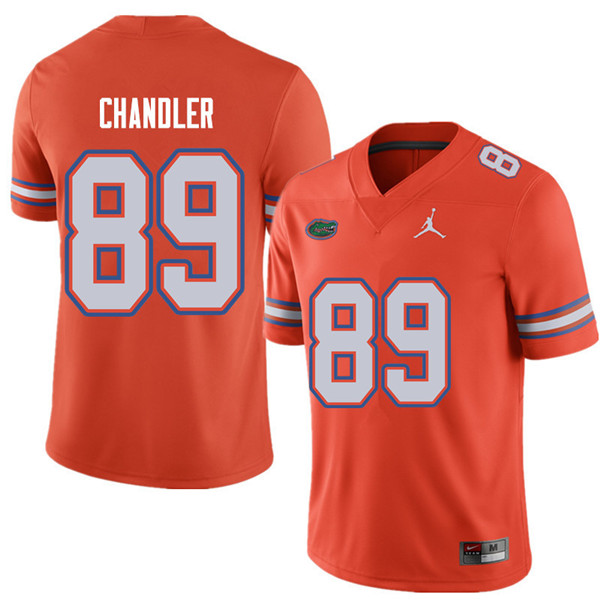 Jordan Brand Men #89 Wes Chandler Florida Gators College Football Jerseys Sale-Orange
