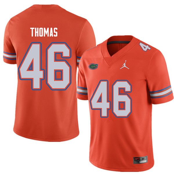 Jordan Brand Men #46 Will Thomas Florida Gators College Football Jerseys Sale-Orange