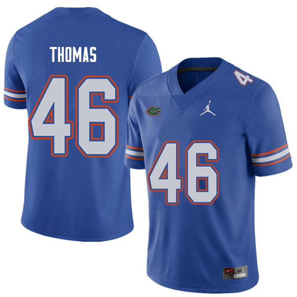 Jordan Brand Men #46 Will Thomas Florida Gators College Football Jerseys Sale-Royal