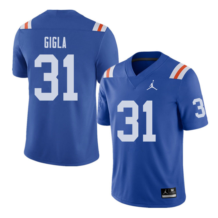 Jordan Brand Men #31 Anthony Gigla Florida Gators Throwback Alternate College Football Jerseys Sale-