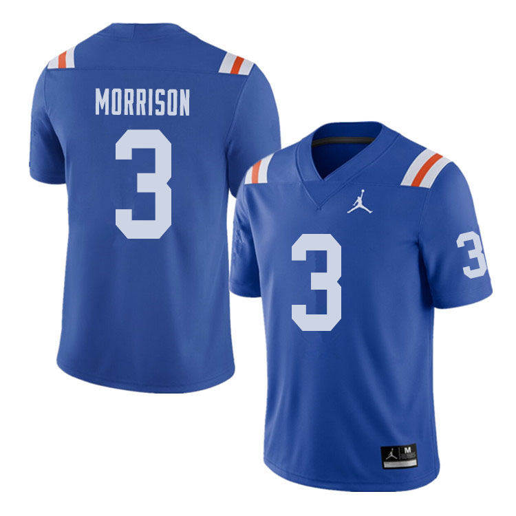 Jordan Brand Men #3 Antonio Morrison Florida Gators Throwback Alternate College Football Jerseys Sal
