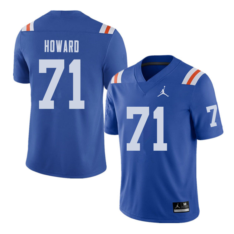 Jordan Brand Men #71 Chris Howard Florida Gators Throwback Alternate College Football Jerseys Sale-R