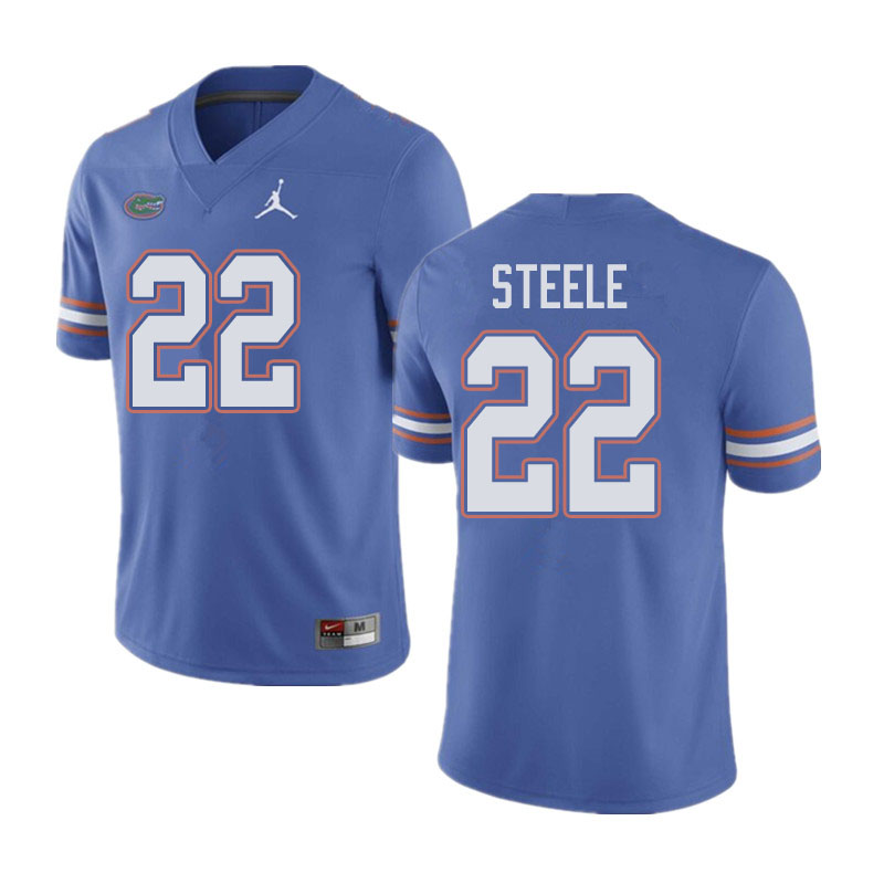 Jordan Brand Men #22 Chris Steele Florida Gators College Football Jerseys Sale-Blue