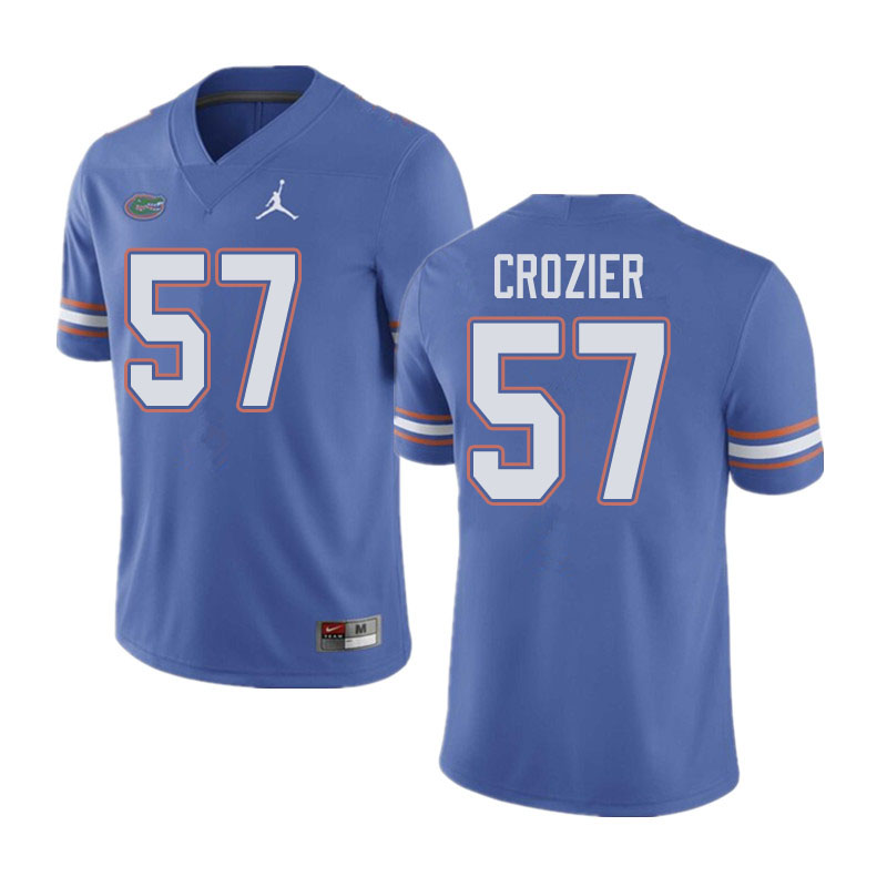 Jordan Brand Men #57 Coleman Crozier Florida Gators College Football Jerseys Sale-Blue