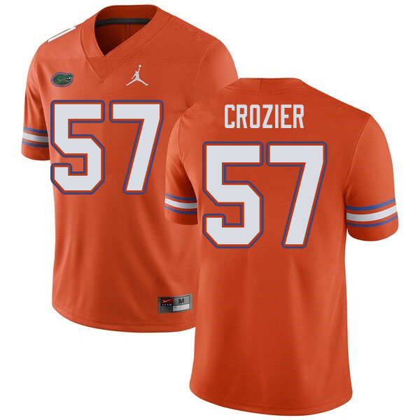 Jordan Brand Men #57 Coleman Crozier Florida Gators College Football Jerseys Sale-Orange