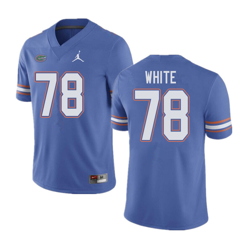 Jordan Brand Men #78 Ethan White Florida Gators College Football Jerseys Sale-Blue